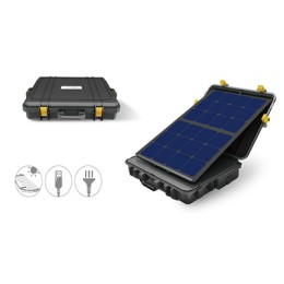 300W Portable solar power case(box)-USA SUNPOWER solar cell