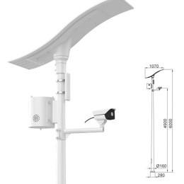 HD wireless solar monitoring or surveillance system with flexible solar panel-Lithim Battery