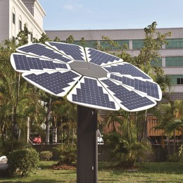 2KW power solar charging station with Flexible solar panels tracking system