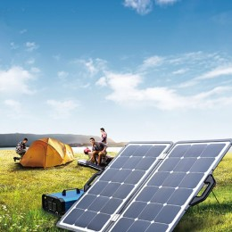 108W coupled solar camping charger (SUNPOWER solar cells)