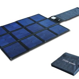 170W Flodable SUNPOWER High Efficiency 25% solar charger-Solar Blanket 2FFM113C