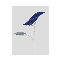 50W LED Wave Solar Street Light With Flexible Solar Panels-2FSG147