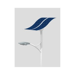 80W LED Wave Solar Street Light With Flexible Solar Panels-2FSG148