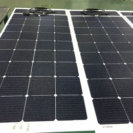 SUNPOWER flexible solar panels with Aluminum alloy laminated inside