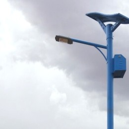 40W LED Solar Street Light With Flexible Solar Panels-Blue color pole