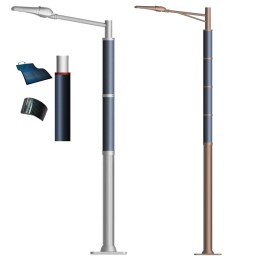 2FSG018 Solar Steet Light Wrap Flex Solar Panel on Round Pole