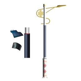 2FSG019 Solar Steet Light Wrap Flexible Solar Panel On Decorative Pole