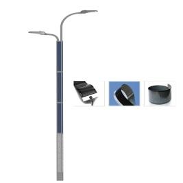 2FSG020 Solar steet Light Dual Arm with Flexible solar panel wrap on pole