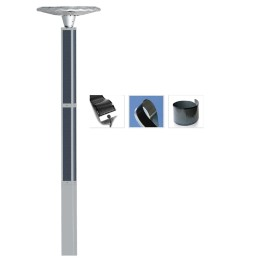 Solar Garden LOTUS Light 2FSG016B-Solar Wrap Square Pole