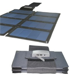 60W Foldable Solar Blanket with SUNPOWER solar cells