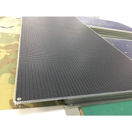 115W SUNPOWER flexible solar panels with 2mm Aluminum inside of panel