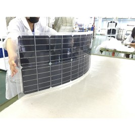 100W and 60W Transparent Flexible Solar panel with TPT
