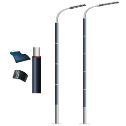120W and 150W high power solar street wrap light with Flexible solar panel on pole