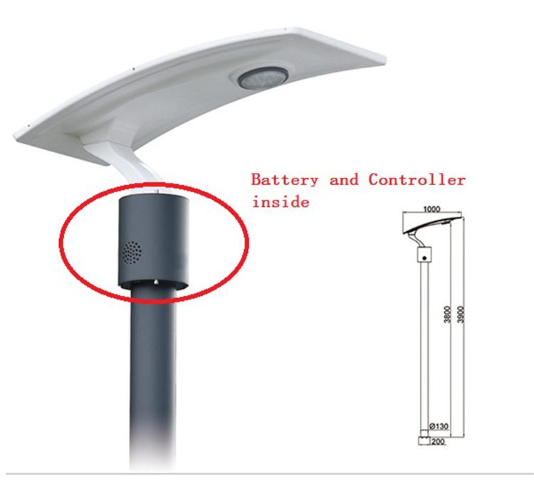 15W LED Solar Garden Light with Flexible Solar Panel 2FSG154