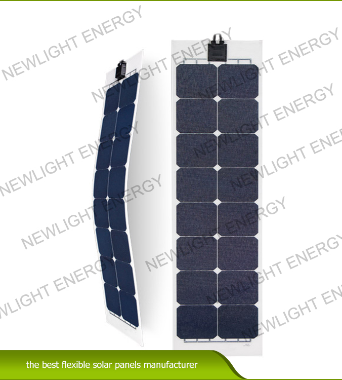 50w-55W Rectangle matrix flexible solar panel for RV Marine yacht
