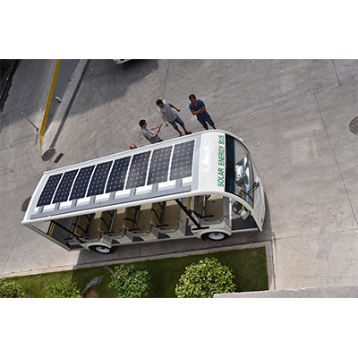 800W high efficiency flexible solar panel for solar energy bus application