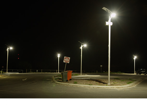 30W LED solar street light with flexible solar panel(Round