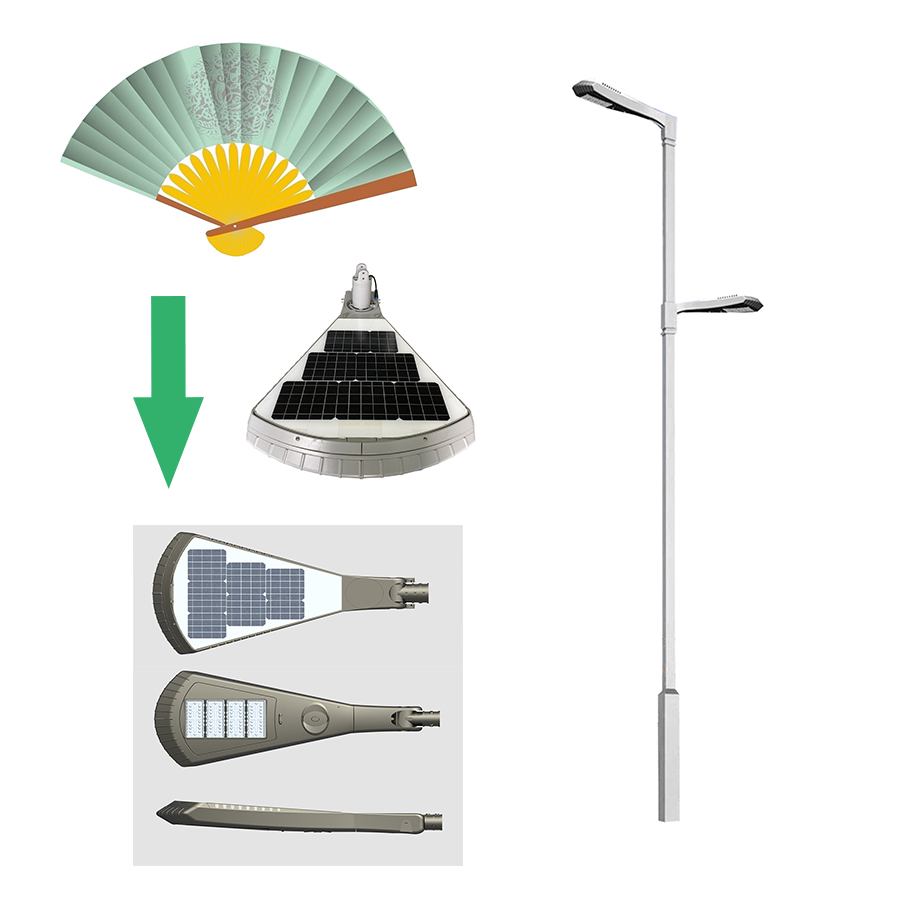 Solar FAN light for Garden design 2FSG021A