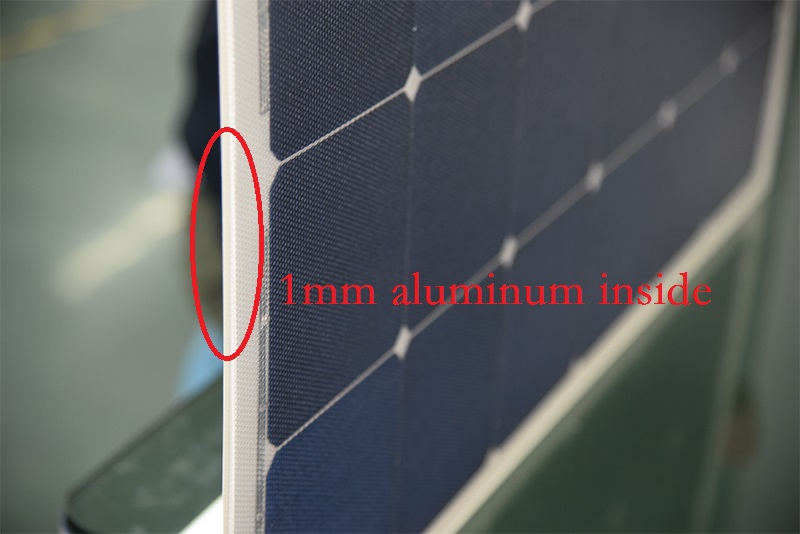75W SUNPOWER flexible solar panels with Aluminum inside