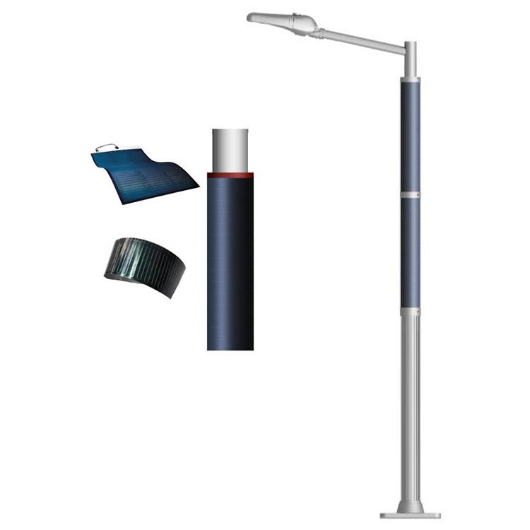 40W LED Solar wrap street pole with flexible solar panel