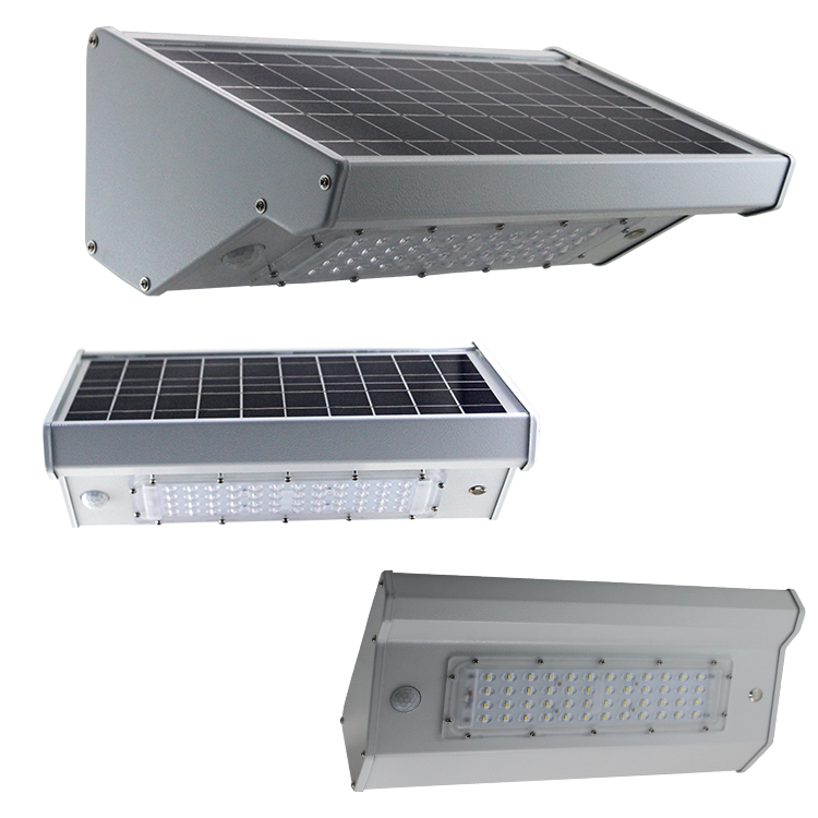 10W LED solar wall light with motion sensor for garage light and courtyard light