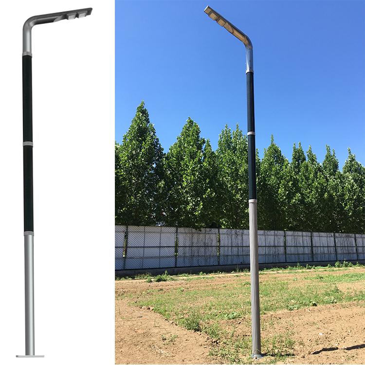 Solar wrap pole with CIGS flexble solar panel solar vertical light for 7 style design 2FSG041