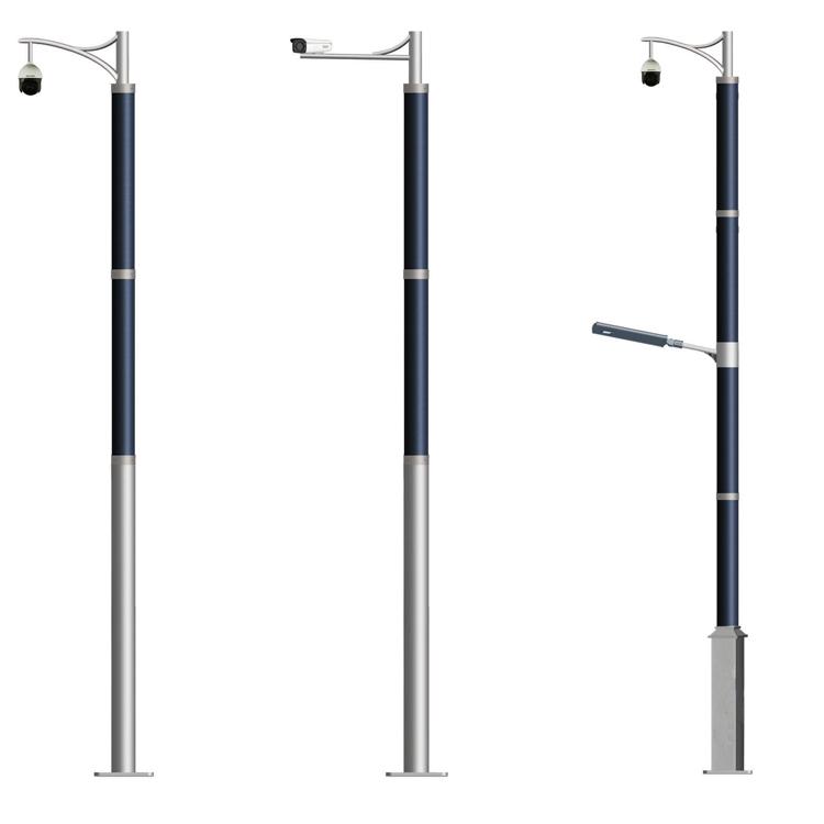 Solar CCTV System Solar Camera With Flexible Solar Panel On Pole