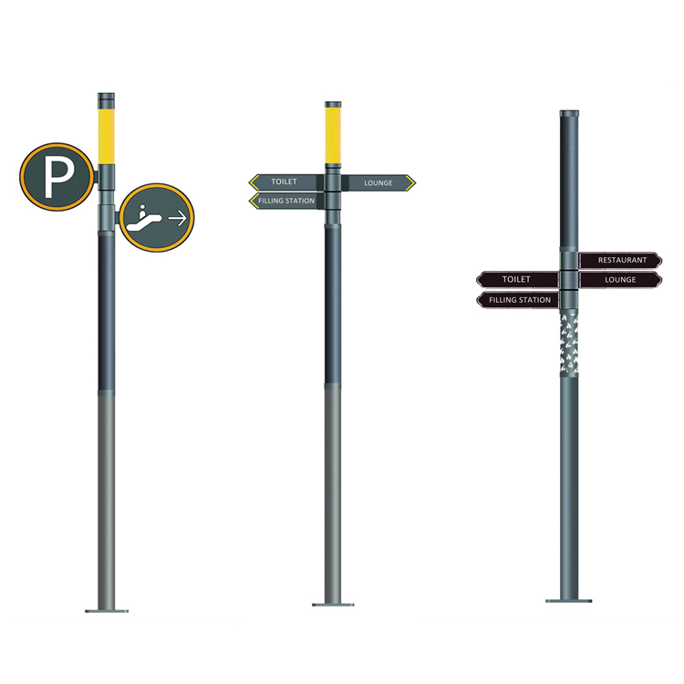 Solar Road Signal light With CIGS Flexible Solar Panel On Pole Design